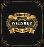 Projeto da etiqueta do logotipo do crachá do vintage para o produto superior Fotografia de Stock Royalty Free