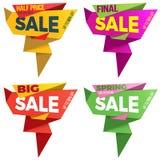 Projeto da etiqueta do molde do crachá da bandeira do preço da etiqueta da venda Imagens de Stock