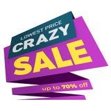 Projeto da etiqueta do molde do crachá da bandeira do preço da etiqueta da venda Imagens de Stock Royalty Free
