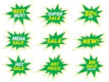 Projeto da etiqueta do molde do crachá da estrela da bandeira do preço da etiqueta da venda Foto de Stock Royalty Free