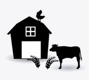 Projeto da exploração agrícola, ilustração do vetor Fotografia de Stock