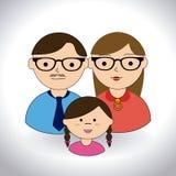 Projeto da família Fotografia de Stock Royalty Free