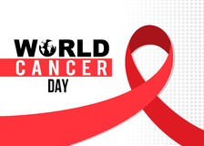 Projeto da fita do dia do câncer do mundo Imagens de Stock