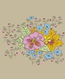 Projeto da flor Imagem de Stock Royalty Free
