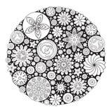Projeto da flor para o livro para colorir para crescido acima Imagem de Stock Royalty Free