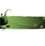 Projeto da folha na obscuridade - fundo verde Imagens de Stock Royalty Free
