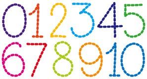 Projeto da fonte para números ilustração do vetor