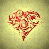 Projeto da forma do coração Imagens de Stock Royalty Free