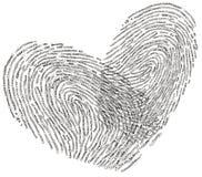 Projeto da forma do coração do texto do amor Imagem de Stock