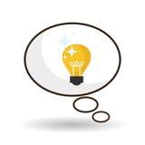 Projeto da ideia Ícone do bulbo Conceito da solução Imagem de Stock Royalty Free