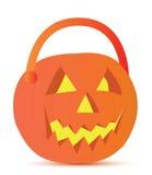 Projeto da ilustração da cesta de Halloween Foto de Stock