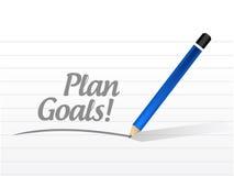 Projeto da ilustração da mensagem dos objetivos do plano Fotos de Stock