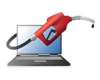 Projeto da ilustração da tecnologia do combustível Imagem de Stock