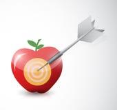 Projeto da ilustração de Apple, do dardo e do alvo ilustração royalty free