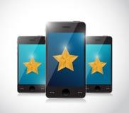 Projeto da ilustração do conceito da revisão do telefone Imagem de Stock Royalty Free