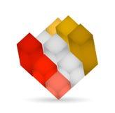 projeto da ilustração do cubo 3d Imagem de Stock Royalty Free