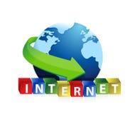Projeto da ilustração do globo do Internet ilustração royalty free