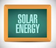 projeto da ilustração do sinal da placa da energia solar Fotos de Stock