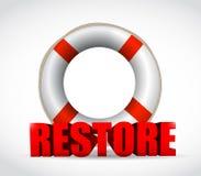 Projeto da ilustração do sinal da restauração do SOS Imagens de Stock Royalty Free