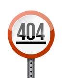 projeto da ilustração do sinal de estrada de 404 erros Fotografia de Stock Royalty Free
