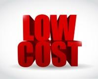 projeto da ilustração do sinal do texto do baixo custo 3d Fotografia de Stock Royalty Free