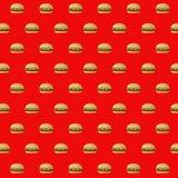 projeto da ilustração do teste padrão dos cheeseburgers do fast food ilustração do vetor