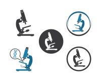 projeto da ilustração do vetor do ícone do logotipo do microscópio ilustração royalty free