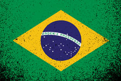 Projeto da ilustração da bandeira da bandeira do grunge de Brasil Imagens de Stock Royalty Free