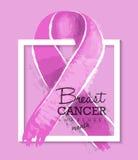 Projeto da ilustração da fita da conscientização do câncer da mama Imagens de Stock Royalty Free