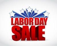 projeto da ilustração do sinal da venda do Dia do Trabalhador Fotos de Stock Royalty Free