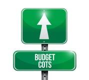 projeto da ilustração do sinal de estrada do custo do orçamento Imagens de Stock