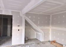 Projeto da instalação do Drywall imagem de stock royalty free