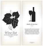 Projeto da lista de vinho Fotografia de Stock