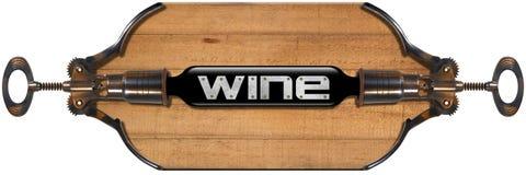 Projeto da lista de vinho Foto de Stock Royalty Free