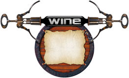 Projeto da lista de vinho Imagem de Stock