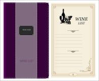 Projeto da lista de vinho Imagens de Stock Royalty Free