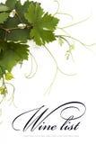 Projeto da lista de vinho do conceito Imagens de Stock Royalty Free