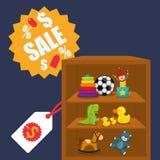 Projeto da loja do brinquedo Imagens de Stock
