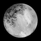 Projeto da lua como o telescópio completamente talvez visto   Fotos de Stock Royalty Free