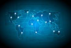 Projeto da luz da tecnologia do mapa Fotografia de Stock