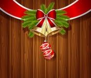 Projeto da mão do Natal com sinos Imagens de Stock Royalty Free