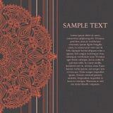 Projeto da mandala, cartão de casamento elegante com linha e mandala Imagens de Stock