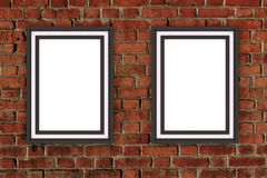 projeto da moldura para retrato 3D no fundo da parede Aperfeiçoe para suas apresentações Textura para o fundo educacional ou do n ilustração stock