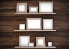 projeto da moldura para retrato 3D no fundo da parede Aperfeiçoe para suas apresentações Textura para o fundo educacional ou do n ilustração do vetor