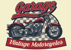 Projeto da motocicleta do vintage ilustração stock