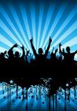 Projeto da multidão do partido Imagens de Stock