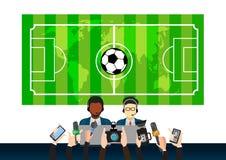 Projeto da notícia dos esportes, ilustração do conceito Imagens de Stock Royalty Free