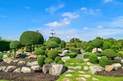 Projeto da paisagem do jardim Fotos de Stock Royalty Free