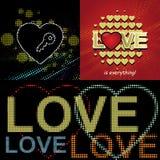 Projeto da palavra do amor, cartão do Valentim Imagem de Stock Royalty Free