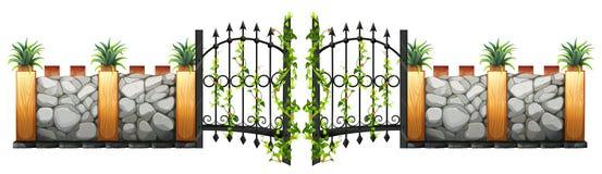 Projeto da parede e da porta ilustração royalty free